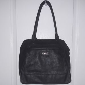 Handbags - Nine West Black Leather Tote/Shoulder Purse